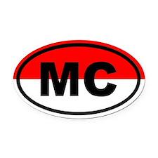 Monaco flag Oval Car Magnet