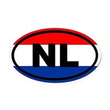 Netherlands flag Oval Car Magnet