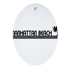 Manhattan Beach, California Oval Ornament