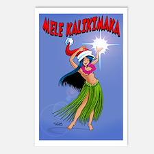 Mele Kalikimaka Hula Postcards (Package Of 8)