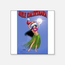 Mele Kalikimaka Hula Sticker