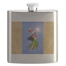 Mele Kalikimaka Hula Flask