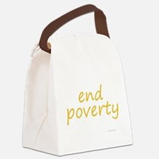 end poverty Canvas Lunch Bag