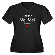 Mei Mei Ladybug Women's Plus Size V-Neck Dark T-Sh