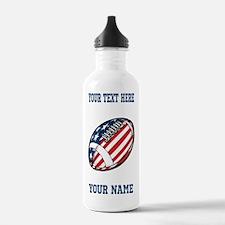 American Football - Personalized Water Bottle
