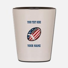 American Football - Personalized Shot Glass