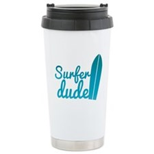 Surfer dude with a surfboard Travel Mug