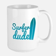 Surfer dude with a surfboard Mugs