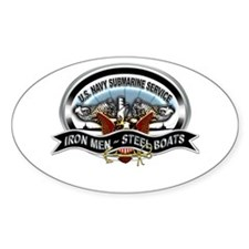 USN Sub Service Iron Steel Stickers