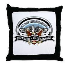 USN Sub Service Iron Steel Throw Pillow