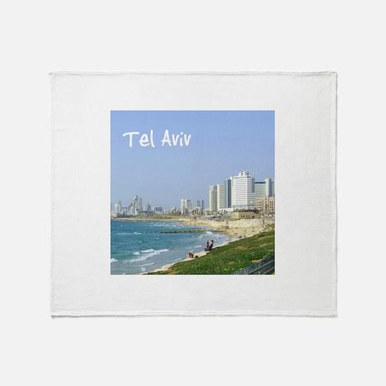 Tel Aviv Beach Throw Blanket