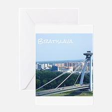 Bratislava Bridge Greeting Cards