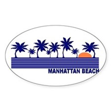 Manhattan Beach, California Oval Decal