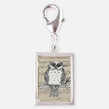 Dotti the Owl 22 Silver Portrait Charm