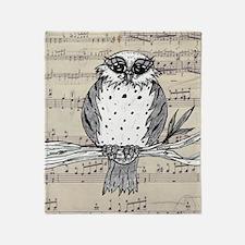 Dotti the Owl 22 Throw Blanket