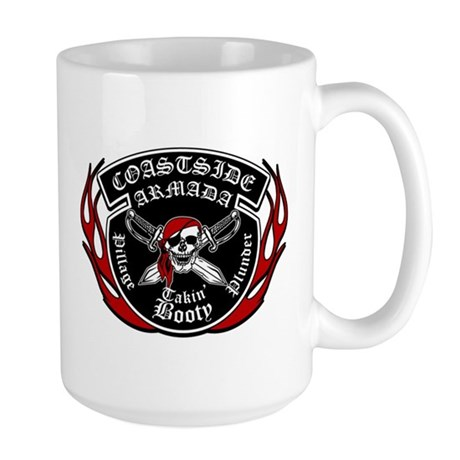 CAHC Flamed logo (wht) Mugs