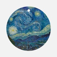 Starry Night Ornament (Round)