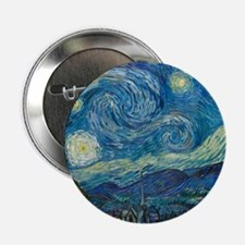 "Starry Night 2.25"" Button"