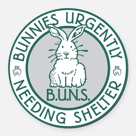 BUNS Logo (Green) Round Car Magnet