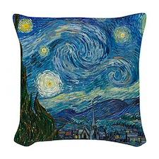 Starry Night Woven Throw Pillow