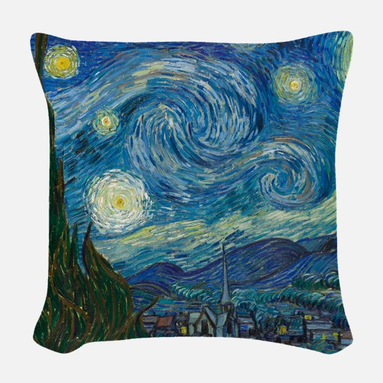Starry Night Woven Throw Pillow