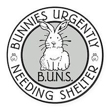 BUNS Logo Round Car Magnet
