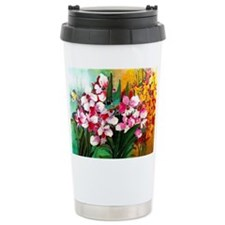 ORCHIDS IN PINK AND YEL Travel Coffee Mug