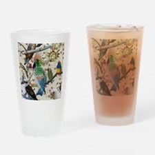 Pretty Birdies Drinking Glass