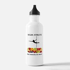 Vegan Athlete Pole Dancing on Fruit Water Bottle
