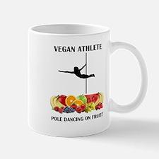 Vegan Athlete Pole Dancing on Fruit Mugs