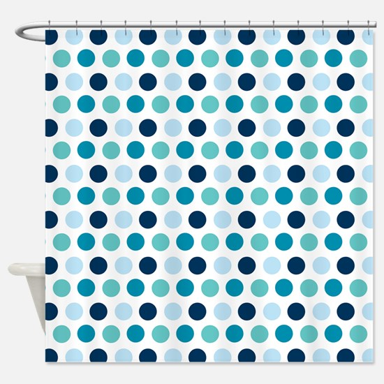 Blue polka dot curtains