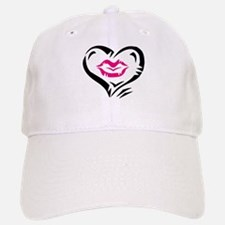 LIPS in HEART [pink] Baseball Baseball Cap
