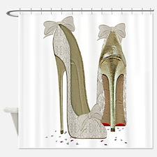 Wedding High Heel Stilettos Art Shower Curtain