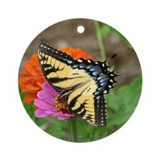 Heaven sent Butterfly Round Ornament