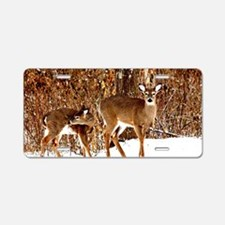 Deer - Doe and Fawn Aluminum License Plate