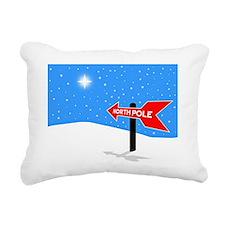 North Pole, arrow pointi Rectangular Canvas Pillow