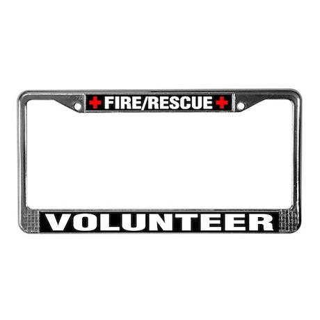 Fire Rescue Volunteer License Plate
