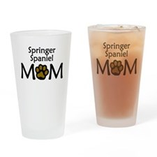 Springer Spaniel Mom Drinking Glass