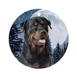 Rottweiler christmas Round Ornaments