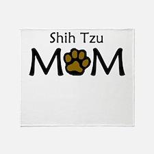 Shih Tzu Mom Throw Blanket