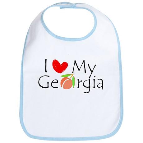 I love my Georgia peach Bib