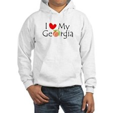 I love my Georgia peach Hoodie Sweatshirt