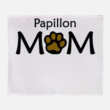 Papillon Mom Throw Blanket