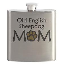 Old English Sheepdog Mom Flask