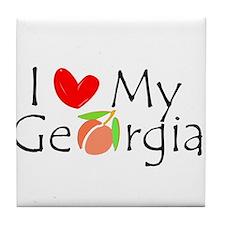 I love my Georgia peach Tile Coaster