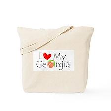 I love my Georgia peach Tote Bag