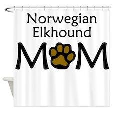 Norwegian Elkhound Mom Shower Curtain