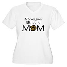 Norwegian Elkhound Mom Plus Size T-Shirt