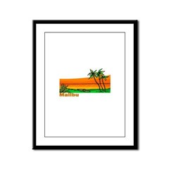 Malibu, California Framed Panel Print