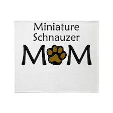 Miniature Schnauzer Mom Throw Blanket